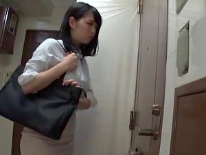 Fascinating glory-hole dick sucking with voracious Saitou Miyu