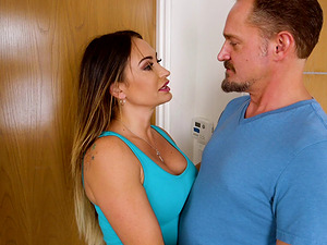 Fabulous titty-fuck and cowgirl ride with Cali Carter and Alec Knight