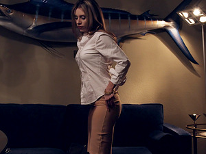 Anya Olsen tied up for a formidable fucking experience