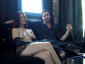 Have a chat with naked alluring Cassidy Klein and Lucas Frost