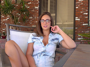 Meet sweet nerdy Layla London before she is ready to get naked