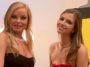 Silvia And Eufrat, two sexy lezzies having fine joy together