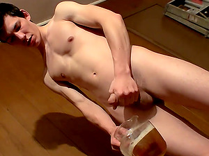 Cooper Reeves takes a piss after a nice solo stroke