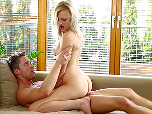 Huge cock is all blonde vixen Katy Rose wants to suck on