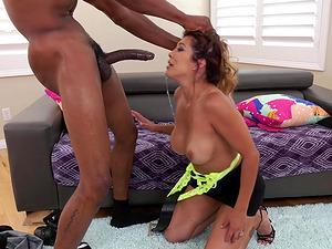 Dirty hoe Francesca Le enjoying Isiah Maxwell's black manhood