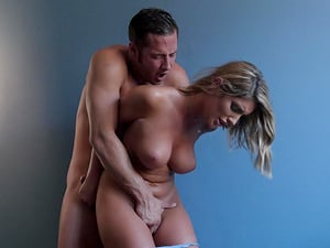 August Ames has a blast while riding a lover's erected cock