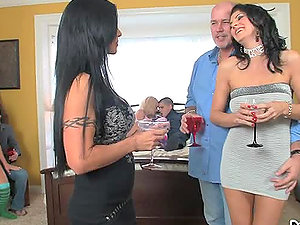 Two guys fuck each others wifes after drinking some alcohol