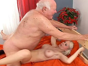 This old grandpa is so fucking lucky to fuck a sizzling honey