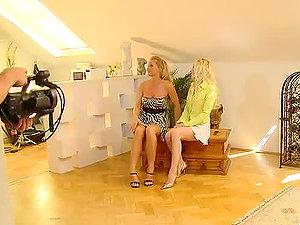 Horny platinum-blonde honey Silvia Saint introduces her fresh honey Lena