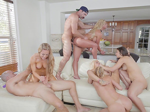 Phoenix Marie and Monique Alexander join hot babes for nasty orgies