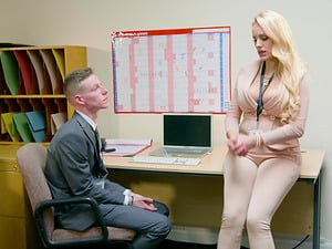 Whorish Angel Wicky is a co-ed who lures men with her big tits