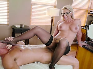 Lovely Phoenix Marie bends over for a handsome hunk's dong