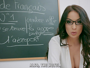 Cheeky teacher Anissa Kate knwos how to handle a boner