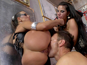 Mea Melone and Athina are nasty sluts ready for a threesome