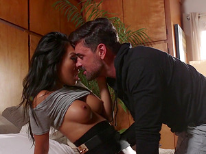Gorgeous Asa Akira bends over for a good-looking hunk