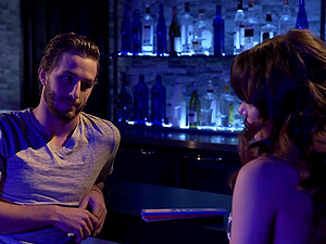 Alison Rey spreads her legs for a fuck with a guy in a bar