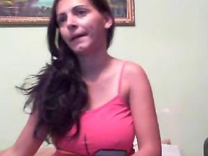 Stripteasing and dancing on webcam