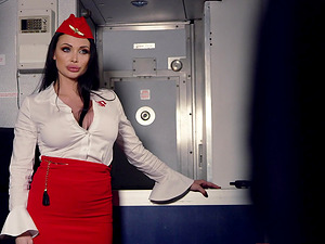 Aletta Ocean and Jai James want to make a pilot's cock pulsate