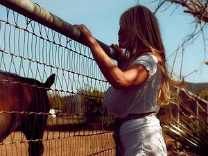 Kelly Madison cannot wait to feel a stallion's big boner