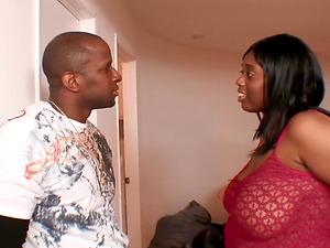 Big ass Ebony chubby screaming while punished hardcore indoors