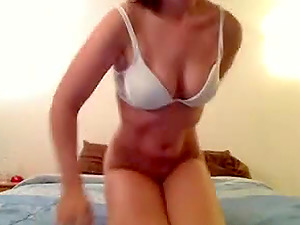 Busty nerd in ponytails sucks & fucks on livecam