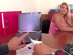 Minnie Manga and Lana S enjoy a threesome in an office