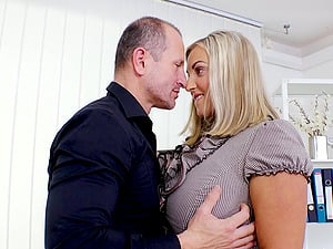 Krystal Swift is a busty blonde seduced by a horny lover