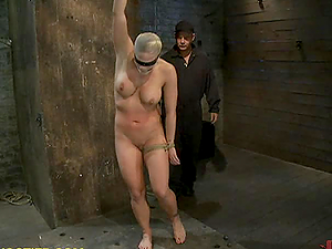 Hot Big-chested Tramps Hog tied and Ordered to Suck Dick in Bondage & discipline