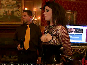 Dark haired Women Get Abased in Kinky Private Club