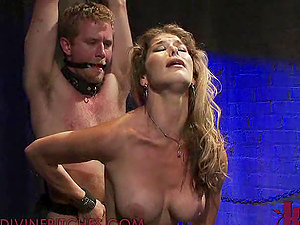 Big-boobed and Sexy Domme Fucks a Stud with Strapon and Gets Banged