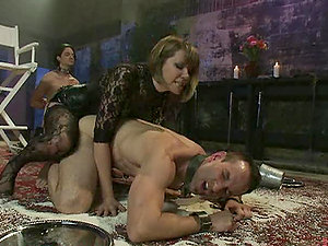 Dirty Mistress Inflicts Her Subs Both Anguish and Pleasure