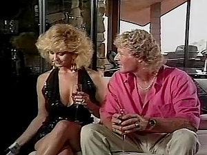 Sexy curly blonde gives a deepthroat to her curly man