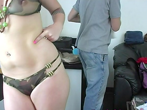Candy Monroe fucks a black fellow while being watched by a cuckold