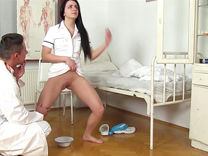 Kittina Ivory is a sexy nurse who wants to feel a doctor's dick