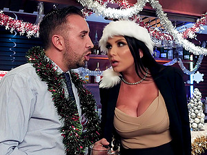 Monique Alexander and Ava Addams enjoy a festive orgy