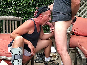 Bear Daddy Worships and Sucks Cock with Passion