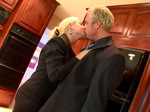 Jenner is a hot blonde who is happy to be plowed by a stud