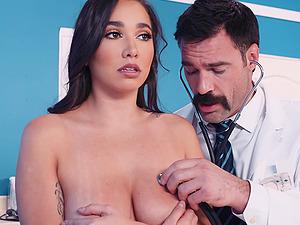 Nasty doctor gets seductive Karlee Grey naked to fuck her hard