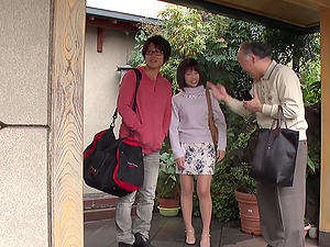 Makoto Toda lets an older gentleman play with her little lady part
