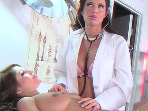 Britney Stevens and another seductress in a steamy threesome