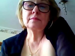 Monster boobs mature teases on webcam