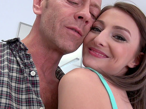 Reverse cowgirl during a passionate threesome with Katy Rose