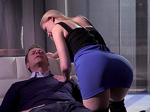 Oral worship and harsh domination with awesome Maddy O'Reilly