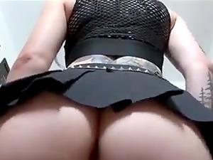 White eyed Gothic Girl fucking her pussy hardcore!