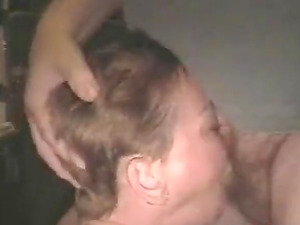 Fat mature dude with small dick gets sucked by horny wife.