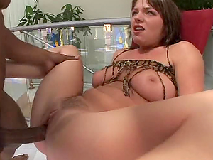 Big bootied cougar gets banged in bum and beaver
