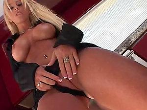 Chesty blonde Brittney Skye gets amazingly fucked in the kitchen