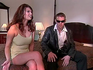 Tera Patrick the gorgeous dark haired shows her passion