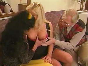 Katarina and Silvia Saint getting fucked by old man