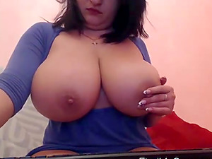 Whips out those huge titties and churns that pussy.